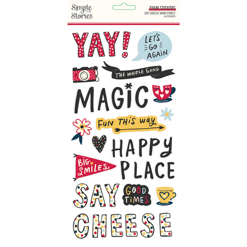 Simple Stories Say Cheese Main Street Foam Stickers