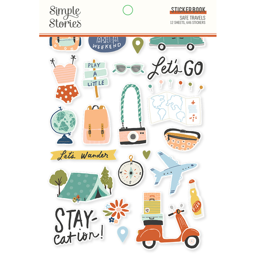 Simple Stories Safe Travels Sticker Book