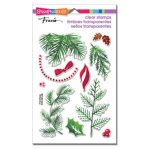 Stampendous Perfectly Clear Stamp Christmas Greenery