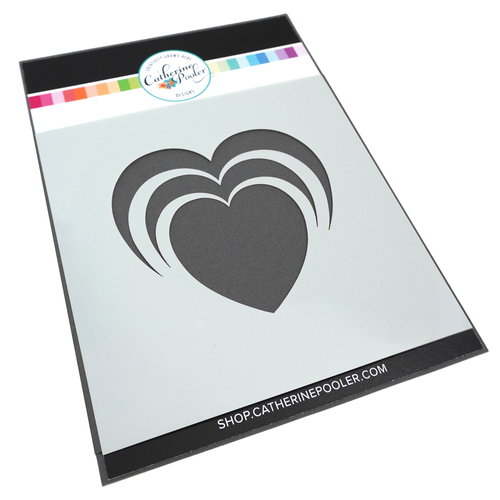 Catherine Pooler Stencil Radiant Heart