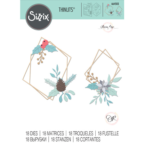 Sizzix Thinlits Die Geometric Winter Frame by Olivia Rose