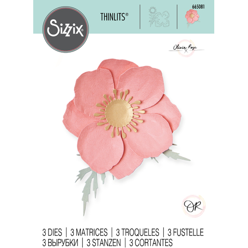 Sizzix Thinlits Die Set 3PK - Icelandic Poppy by Olivia Rose