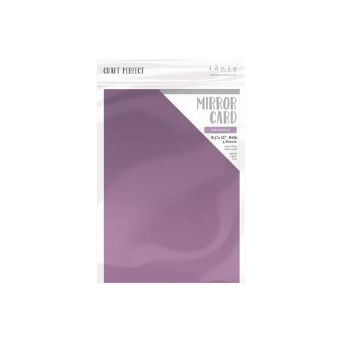 Craft Perfect Soft Amethyst A4 Satin Mirror Cardstock