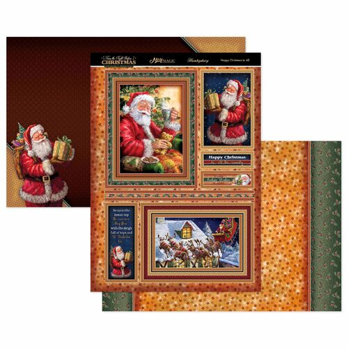 Hunkydory Twas the Night Before Christmas Mirric Magic Topper Set Happy Christmas