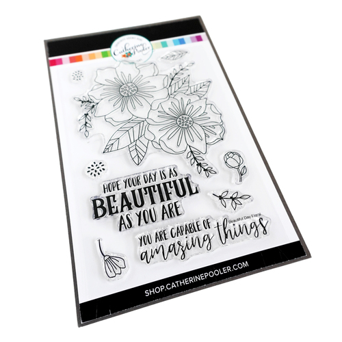 Catherine Pooler Beautiful Day Floral Stamp Set