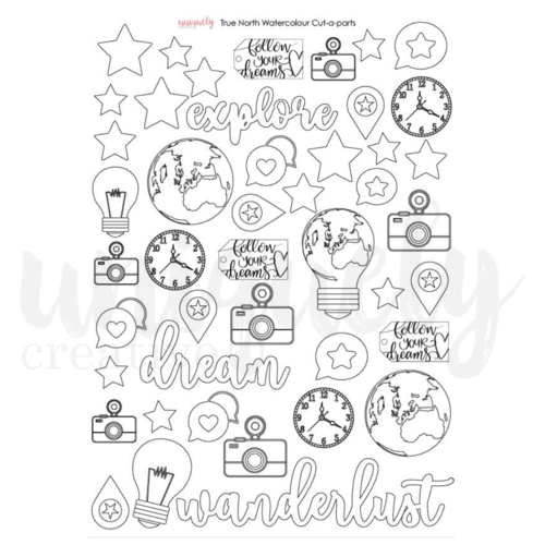 Uniquely Creative True North Watercolour Cut-a-Part Sheet