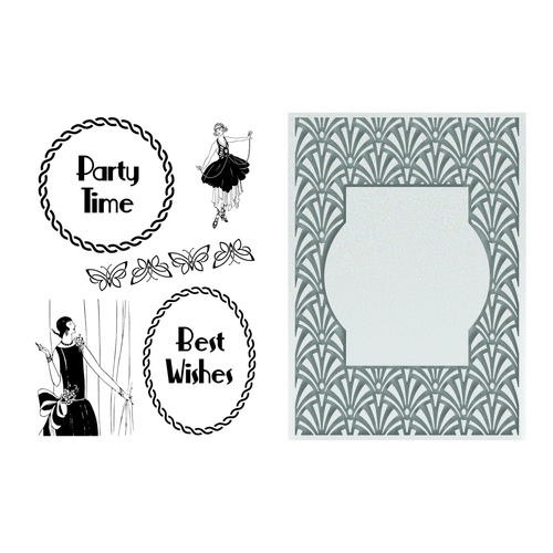 Ultimate Crafts Stamp Emboss Set The Ritz Collection Classy Invitation