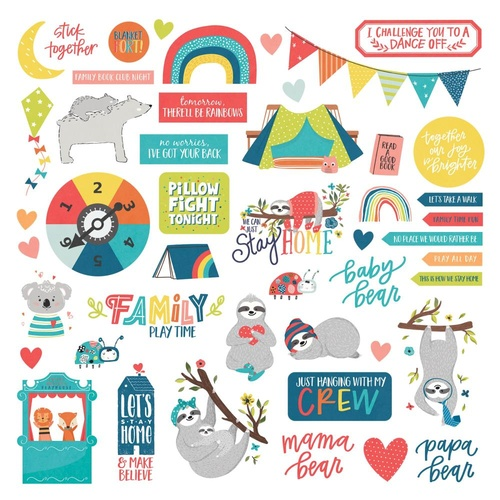 "PhotoPlay Paper We Can Just Stay Home 12"" Sticker Elements Sheet"