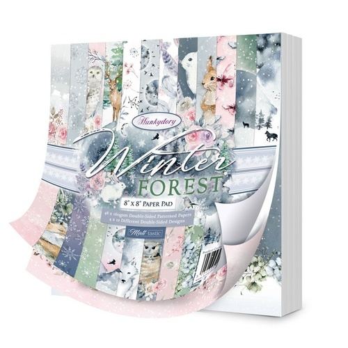 "Hunkydory Winter Forest 8"" Paper Pad"