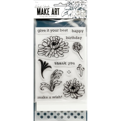Wendy Vecchi Make Art Stamp, Die and Stencil Set Thank You